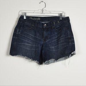 Madewell Raw Hem Jean Shorts 28
